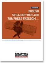 INGLÉS - Informe sobre la libertad de prensa en Kosovo