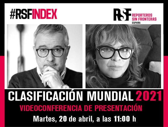 CONVOCATORIA | 20.04.21 11h | Presentación de la Clasificación Mundial de la Libertad de Prensa 2021